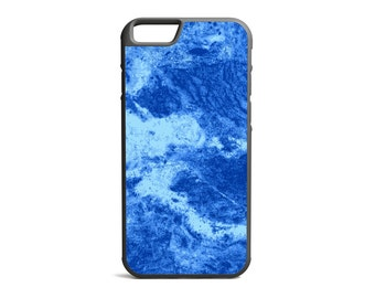 Split Blue Marble Print Phone Case, Marble Case, Marble Print, Rubber Bumper Case, iPhone Case, iPhone Cover, iPhone Bumper \ bc-pp019