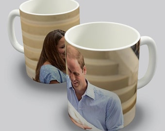 The Royal Baby George Alexander Louis Prince William And Kate Middleton Ceramic Mug