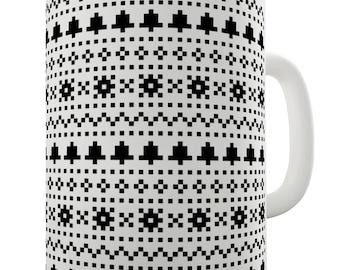 Bells And Snowflake Print Ceramic Funny Mug