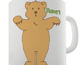 Funny Silly Bear Rawr Ceramic Tea Mug
