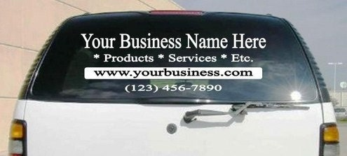 Custom Car Window Decals Sports Team Business Logos Custom - Custom car business stickers