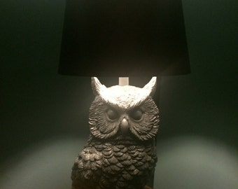 Limited edition owl lamp - Grey