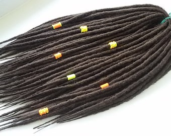 SYNTHETIC DREADS Custom Synthetic Dreadlocks Double Ended Extensions Synth dreads Handmade