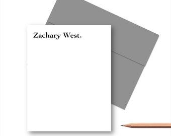 Personalized Stationery Set for Him, Personalized Note Cards, Mens Note Cards, Personalized Stationary sets, Gifts for Men