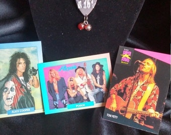 Opening Special Guns and Roses Pick Necklace / Leather Necklace w/ Beads
