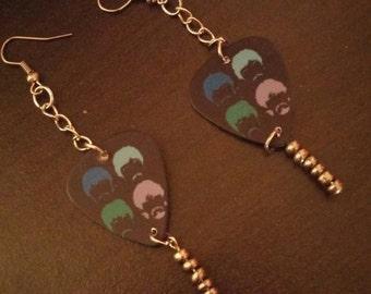 Opening Special Beatles Guitar Pick Earrings
