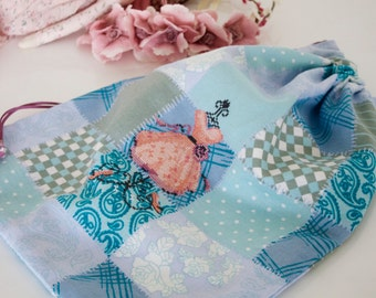 Princess,Clothing bag, shoe bag, Laundry bag, Lingerie bag, Pyjamas bag, present, cross stitch,handmade