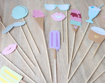 Ice Cream party photo props
