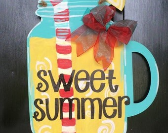 Sweet Lemonade Wooden Door Hanger