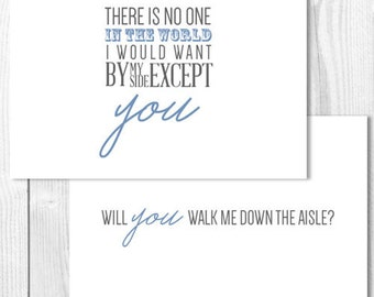 Will You Walk Me Down The Aisle Wedding Card with Envelope