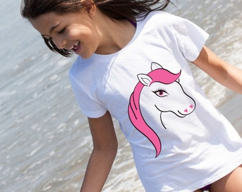 Pony T-Shirt, Age 5-6, Girls, 5/6, Toddler, Pink, Pony, Horse, Equine, Kidswear, Girls tshirt, Girls top, Girls pony, girls fashion,girlwear