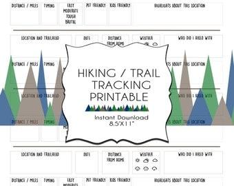 Hiking / Trail Tracking  ~ Printable