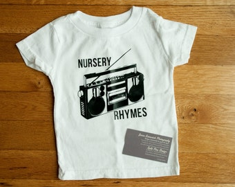 Nursery Rhymes T-Shirt for babies, toddlers and children.