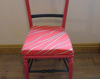 Retro red and black painted chair