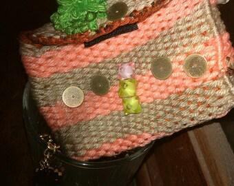 Wool coin purse