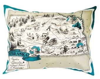 Nebraska Pillow Cover with Insert