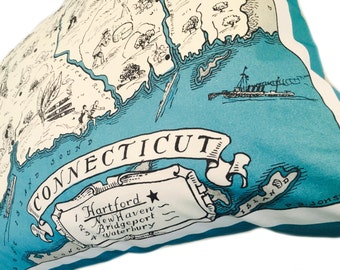 Connecticut  Pillow Cover with Insert