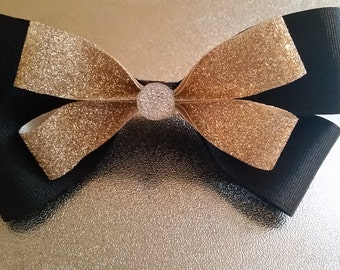 Black and Gold Large Bow