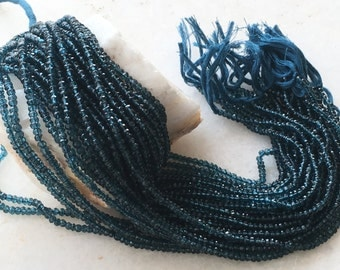 Exclusive Quality Mystic London Blue Quartz Micro faceted Roundell 3 - 3.50 mm approx , 14 inch strand