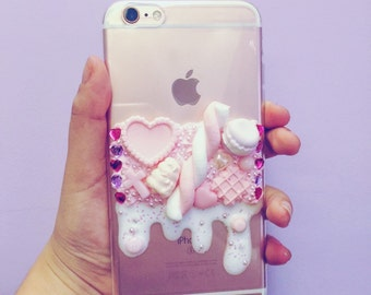 Handmade cream phone case
