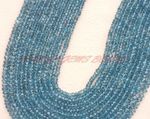"""Mystic London Blue Topaz Rondelles, Topaz Faceted Rondelle Beads, 4 MM Size, 13"""" Strand, Loose Gemstone Roundel Beads, Best High Quality IN"""