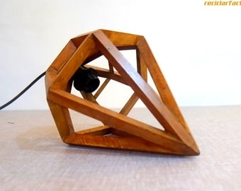 Diamond Pendant Lighting / Ceiling Pendant Light Made from Pallet wood -  Hanging Lamp with fixtures