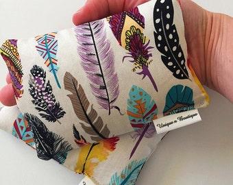 Feather print Mini heat/cold packs