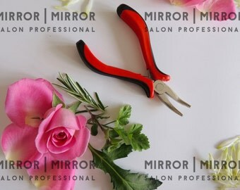 Hair Extension Micro Ring Plier Red bent nose plier