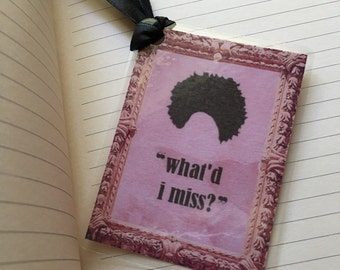 "Hamilton Musical Laminated Bookmark - ""What'd I Miss?"" Thomas Jefferson Lyrics"