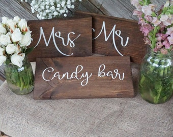 Candy bar wedding sign. Candy bar table sign. Wedding prop. Wedding sign. Wood sign. Candy bar wood sign. Wedding decor. Candy prop.