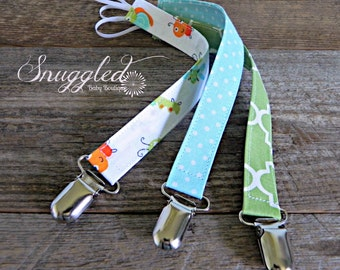 Pacifier Clips, Set of 3