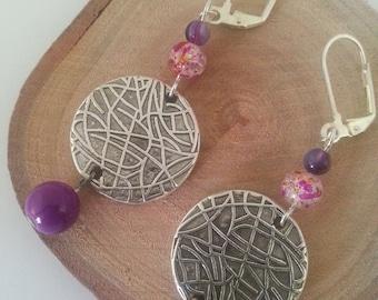 Earrings PURPLE {jewellery}