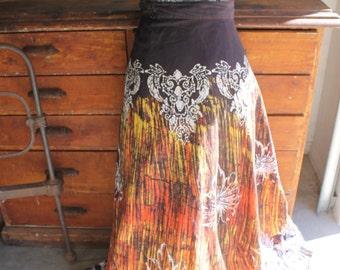 Amazing Vintage Batik Wrap Skirt
