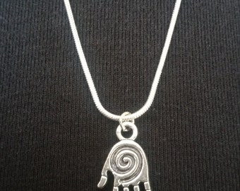 Sterling Silver Necklace with Healing Hand Pendant