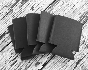 25 Blank Charcoal Grey Beverage Insulators   Can Coolies   FREE SHIPPING