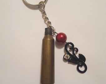 Rifle shell keychain