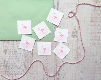Flamingo Envelope Seal Stickers, Flamingo Stickers, Wedding Stickers