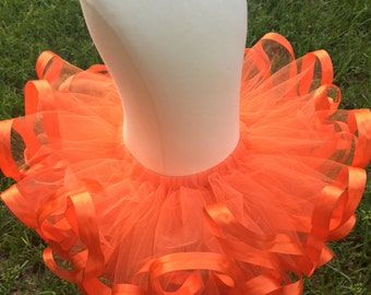 Orange baby tutu - Orange girls birthday tutu -  Custom my first birthday tutu - Toddler tutu - Infant tutu
