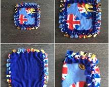 KnotAgain lovey, baby lovey, security blanket, lovey, fleece lovey, baby sensory blankie, knot tie blanket
