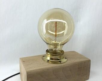 Industrial lamp vintage pine wood