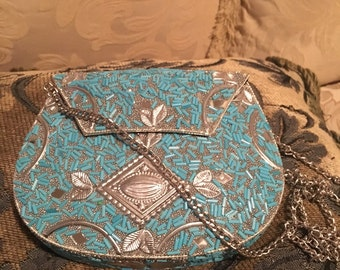 Hand-crafted metal purse