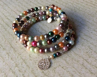 Wrap Bracelet of pearls galore