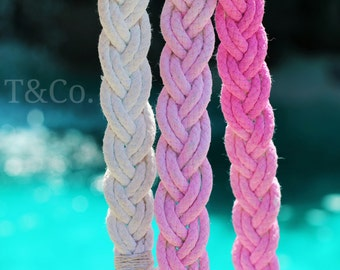 Pink Paradise Leash (Double Braided)