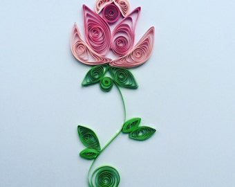 "Quilled paper art ""rose"" quilling decor gift handmade"