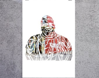 Notorious B.I.G. Biggie Smalls Poster - Notorious B.I.G. Poster - Street Corner Colour Print