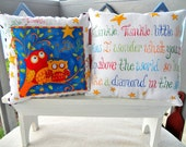 Twinkle, Twinkle, Little Star Lil Pillow Set, 2- 7X7, Childrens Pillows, Nursery Rhymes/Songs