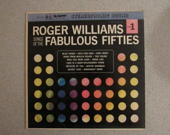 Roger Williams Two Part Vintage Record Collection (2 Records) from the 60s