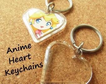 Anime Heart Keychain
