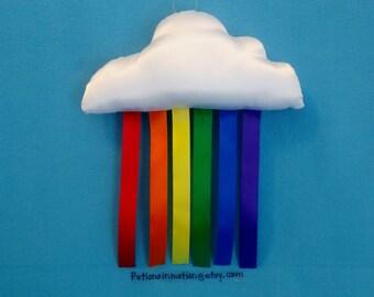 CLOUD RAINBOW Mobile Wall Hanging Decor * Rainbow Nursery * Kids Bedroom * Mini Cloud & Rainbow Pillow * Rainbow Cloud Mobile * Kids Decor