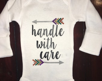 Handle With Care Onesie